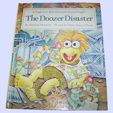 """Collectible Vintage Children's Book """" The Doozer Disaster """" A Fraggle Rock Book Staring The Muppets"""