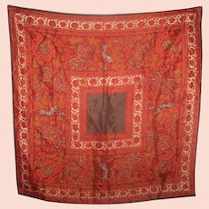 A Rich Patterned Paisley Ladies Fashion Accessory Scarf