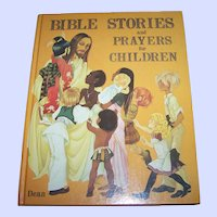 A Vintage Childrens Book Bible Stories and Prayers for Children Dean & Son Ltd.1978