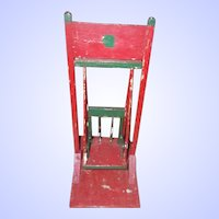 A Hand Made Vintage Hand Painted Wood Wooden Swing Folk Art New Brunswick , Canada