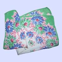 An Oh So Pretty Vintage  Delicate Crepe Floral Handkerchief Hanky Hankie