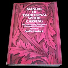"""Soft Cover Book """" Manual Of Traditional Wood Carving """" Dover Publications C. 1977"""