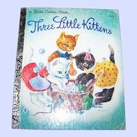 "Children's Book "" Three Little Kittens "" A Little Golden Book Illustrated by MASHA"