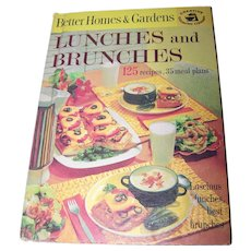 Vintage Hard Cover Cookbook Better Homes & Gardens LUNCHES and BRUNCHES