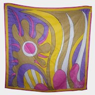 Colorful Designer Signed Vintage  Vera Abstract Pop Art Print Scarf ( Neumann ) Wearable ART