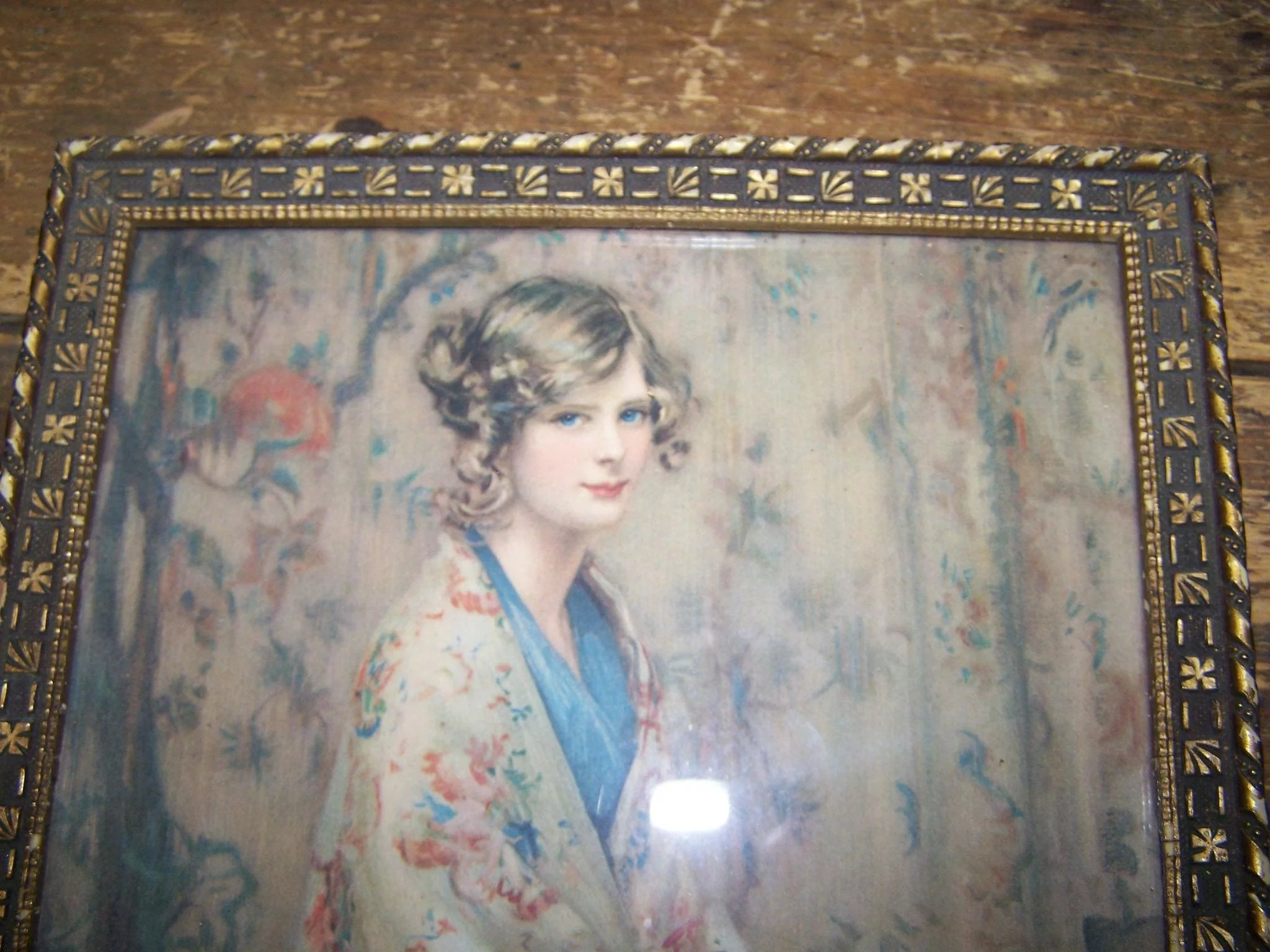 Vintage Framed Alice Blue Gown Print Wall Art : Victoria\'s ...