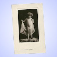 Vintage Black and White Real Photograph Post Card I'VE Nothing On Today