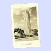 Vintage Real Photograph Post Card Charity Crucifixtion Tower Woodward and 12 Mile Road Detroit