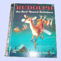 Children' s Book  Rudolph the Red-Nosed Reindeer a Little Golden Book 1971