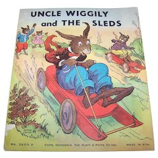 "Paper Back Book Booklet "" Uncle Wiggily and The Sleds "" No 3600F Platt Munk Co"