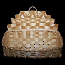 Vintage Native First Nations Mi'kmaq Woven Wall Mount Basket