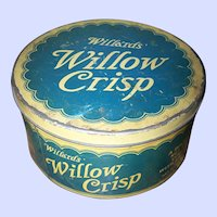 An Advertising Tin Litho  Can Willa'rds WILLOW CRISP Toronto Canada