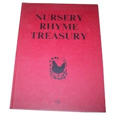 A Charming Vintage Nursery Rhyme Treasury Young World Productions  Children's Book 1971
