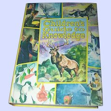 """Beautiful Jumbo Vintage Book """" Children's Guide to Knowledge """"  Illustrated"""