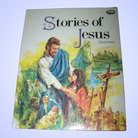 "Lovely Over Size Book "" Stories of Jesus "" Illustrated"