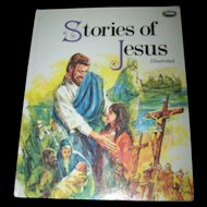 """Lovely Over Size Book """" Stories of Jesus """" Illustrated"""