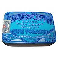 Small Advertising Tin Litho  Box Edgeworth Tobacco Match Striker to Bottom