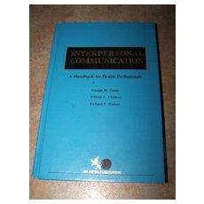 H,C, Book  Interpersonal Communication C. 1982