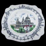 Souvenir Scenic Porcelain Plate St. Paul's  A.J. Wilkinson LTD Burslem England