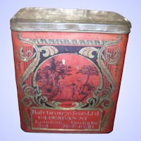 Vintage Advertising Tin Litho Daly Grange Teas London Ontario in  Canada