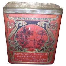 Vintage Advertising Tin Litho Daly Grange Teas London Ontario in  Canada