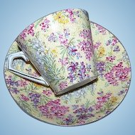 Elijah Cotton Lord Nelson Ware Chintz Cup & Saucer Heather Pattern