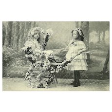 2 Charming Collectible Vintage Post Cards Featuring Children