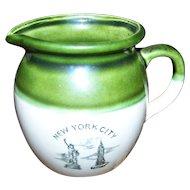 Souvenir Memento of  NEW YORK CITY  Vintage Creamer Statue of Liberty Empire State Building