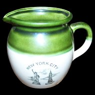 Souvenir Memento of  NEW YORK CITY  Vintage Creamer Statue of Liberty Empire State Building
