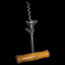 Vintage W. Germany Metalware and Wood Handle Wine Cork Screw
