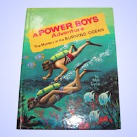 "Children's Book "" A Power Boys Adventure The Mystery of the Burning Ocean "" By Mel Lyle"