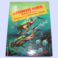 """Children's Book """" A Power Boys Adventure The Mystery of the Burning Ocean """" By Mel Lyle"""
