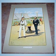 Vintage  Print Werner Co Seaman of the Imperial Navy
