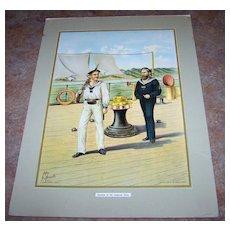 Vintage  Print Werner Co Seaman of the Imperial Navy