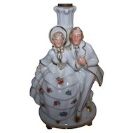 Decorative Vintage Ceramic Romantic Colonial Couple Lamp