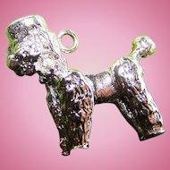 Sweet Vintage Little Poodle Puppy Dog Sterling Silver Charm