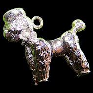 Sweet Vintage Little Poodle Puppy Dog Sterling Silver Charm