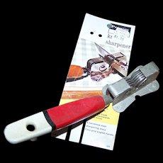 Prestige Skyline Made In England Retro Mid Century Era Metal Knife Sharpener Wood Handle