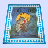 """Over Size Children's Book """" The Peter Patter Book of Nursery Rhymes """"  by Leroy F. Jackson"""