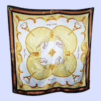 What A Lovely Large Novelty Souvenirs Of Paris  Travel Fashion Scarf
