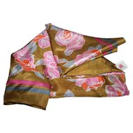 The Most Beautiful Delicate Silk Floral Pattern Ladies Fashion Accessory  Scarf
