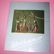 """Soft Cover Book """" Wertheimer """"  Esther Sculptures Art"""