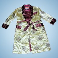 A Beautiful Vintage Children's House Coat Jacket Oriental Style Size 10