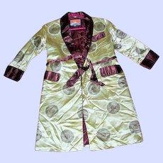 A Beautiful Vintage Children's House Coat Jacket Oriental Style Size 10