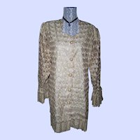 WOW Gold Lamey Lame Lace Colonial  Style Jacket