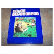 A Charming Alice In Wonderland C. 1988 Hard Cover Book Illustrations taken from Magic Lantern Slides