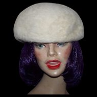 Ladies Vintage Angora Wool Style Beret Hat