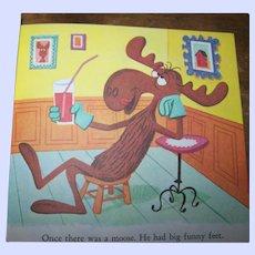 """A Little Golden Book """" Bullwinkle """" #462 By David Corwyn Golden Press"""