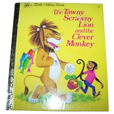 "A Little Charming Children's Golden Book  "" The Tawny Scrawny Lion and the Clever Monkey """