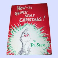 "Children's Hard Cover Book "" How The Grinch Stole Christmas "" Random House"